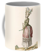 Provencial Style Ladys Walking Gown Coffee Mug