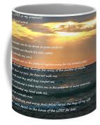 Psalm 23 Beach Sunset Coffee Mug