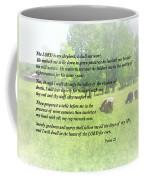 Psalm 23 The Lord Is My Shepherd Coffee Mug by Susan Savad