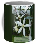 Psalm Eighteen Two White Clematis Coffee Mug
