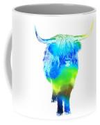 Psychedelic Bovine #2 Coffee Mug by Pixel  Chimp