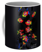Psychedelic Flying Fish With Psychedelic Reflections Coffee Mug