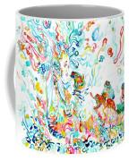 Psychedelic Goddess With Toads Coffee Mug
