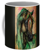 Psychedelic Green And Pink Coffee Mug