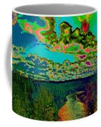 Psychedelic Skyline Over Spokane River #2 Coffee Mug