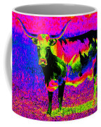 Psychedelic Texas Longhorn Coffee Mug