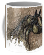 Psychodelic Grey Horse Original Painting Coffee Mug