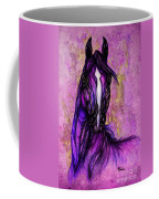 Psychodelic Purple Horse Coffee Mug