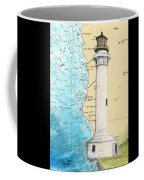Pt Arena Lighthouse Ca Nautical Chart Map Art Cathy Peek Coffee Mug