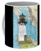 Pt Montara Lighthouse Ca Nautical Chart Map Art Cathy Peek Coffee Mug