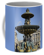 Public Fountain At The Place De La Concorde In Paris France Coffee Mug