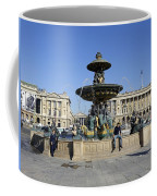 Public Fountain At The Place De La Concorde Coffee Mug