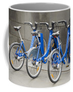 Public Shared Bicycles In Melbourne Australia Coffee Mug