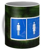 Public Toilet Sign Coffee Mug
