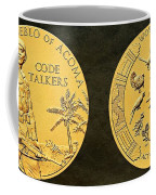 Pueblo Of Acoma Tribe Code Talkers Bronze Medal Art Coffee Mug