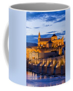 Puente Romano And Mezquita At Twilight In Cordoba Coffee Mug