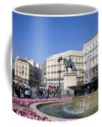 Puerta Del Sol In Madrid Coffee Mug