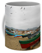 Puerto Lopez Beach And Boats Coffee Mug