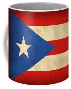 Puerto Rico Flag Vintage Distressed Finish Coffee Mug by Design Turnpike