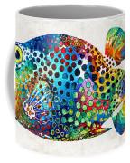 Puffer Fish Art - Puff Love - By Sharon Cummings Coffee Mug