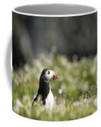 Puffin In Sea Campion Coffee Mug