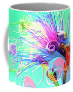 Puffy Bloom W Bee Abstract Coffee Mug