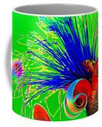 Puffy Bloom W Bee In Rainbow Coffee Mug