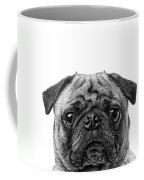 Pug Dog Square Format Coffee Mug