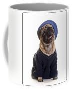 Pug In Sweater And Hat Coffee Mug