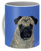 Pug On Blue Coffee Mug