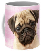 Pug Portrait Coffee Mug by Greg Cuddiford