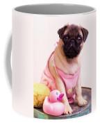 Pug Puppy Bath Time Coffee Mug