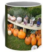 Pumpkins And Birdhouses Coffee Mug