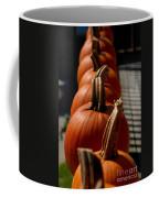 Pumpkins In A Row Coffee Mug by Amy Cicconi