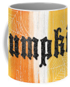 Pumpkins Sign Coffee Mug by Linda Woods