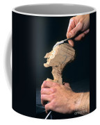Puppet Being Carved From Wood Coffee Mug