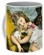 Puppies Kittens And Baby Girl Coffee Mug