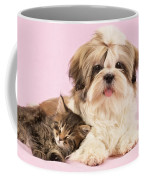 Puppy And Kitten Coffee Mug by Greg Cuddiford