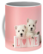 Puppy Love Coffee Mug by Greg Cuddiford