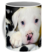 Puppy Pose With 4 Spots On Nose Coffee Mug