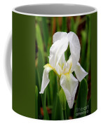 Purely White Iris Coffee Mug