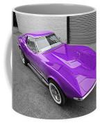 Purple 1968 Corvette C3 From Above Coffee Mug