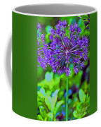 Purple Allium Flower Coffee Mug