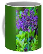 Purple Allium Flower Coffee Mug
