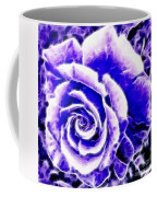 Purple And Blue Rose Expressive Brushstrokes Coffee Mug