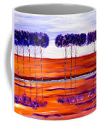 Purple And Blue Trees Abstract Coffee Mug