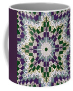 Purple And Green Patchwork Art Coffee Mug