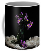 Purple And Lace Coffee Mug by Diana Angstadt