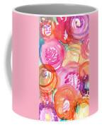 Purple And Orange Flowers Coffee Mug