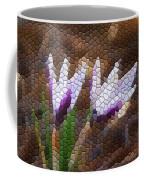 Purple And White Crocus Coffee Mug